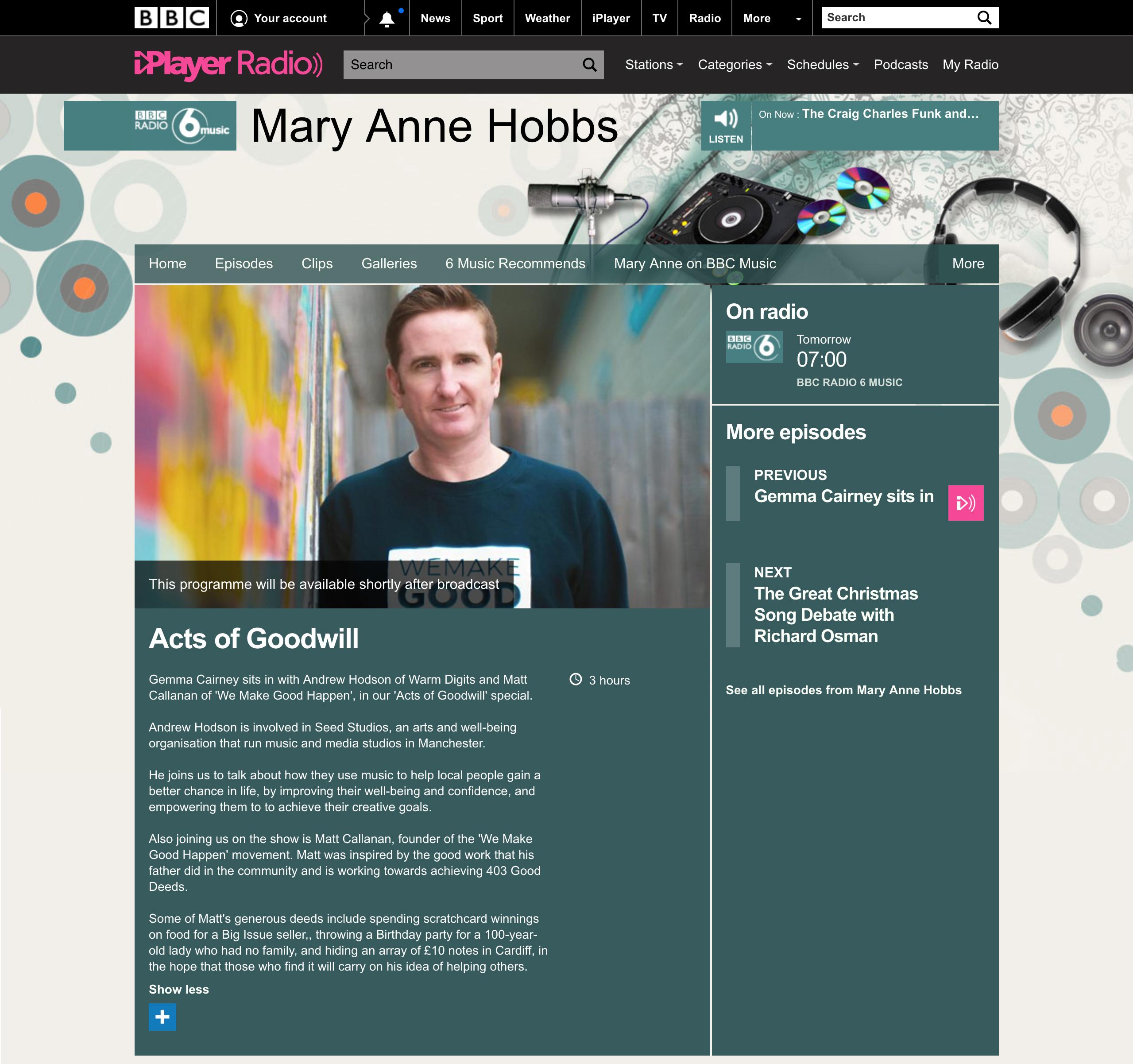 BBC Radio – 6 Music